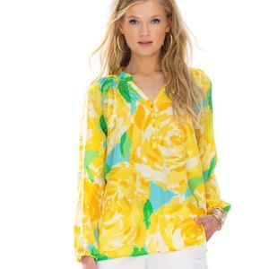 Lilly Pulitzer Elsa Top-Yellow First Impression